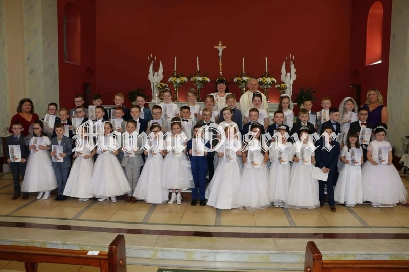 HOLY COMMUNION FOR PUPILS FROM ST. PATRICKS PRIMARY SCHOOL HILLTOWN