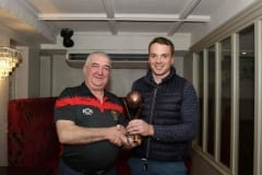 Benny-McArdle-receives-his-award-from-Brian-Greenan-Transport-Secretary