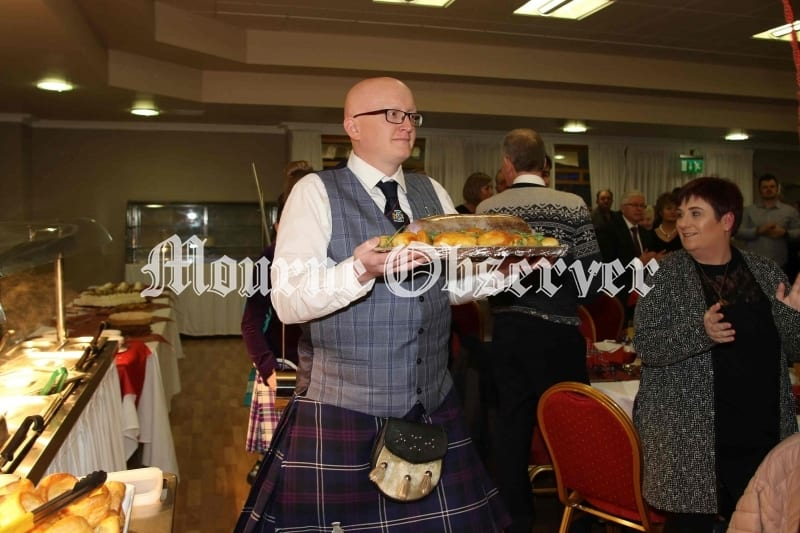 Gareth-Crozier-carries-the-Haggis-in-to-the-main-hall