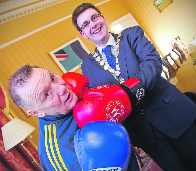Mayor Adair dons boxing gloves for charity