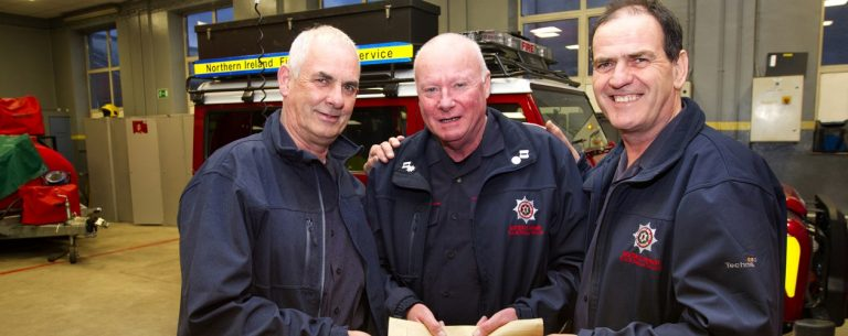 Long-serving firemen retire