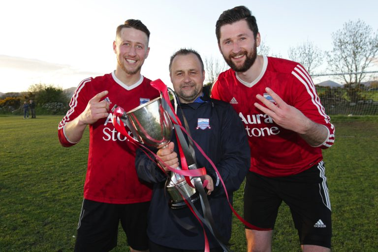 Burden hat-trick has Ballyvea celebrating Newcastle League Premiership success