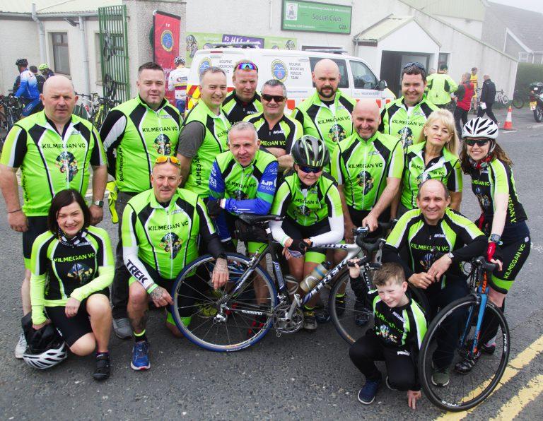 Cyclists take part in Kilmegan club's No Hills No Thrills sportive