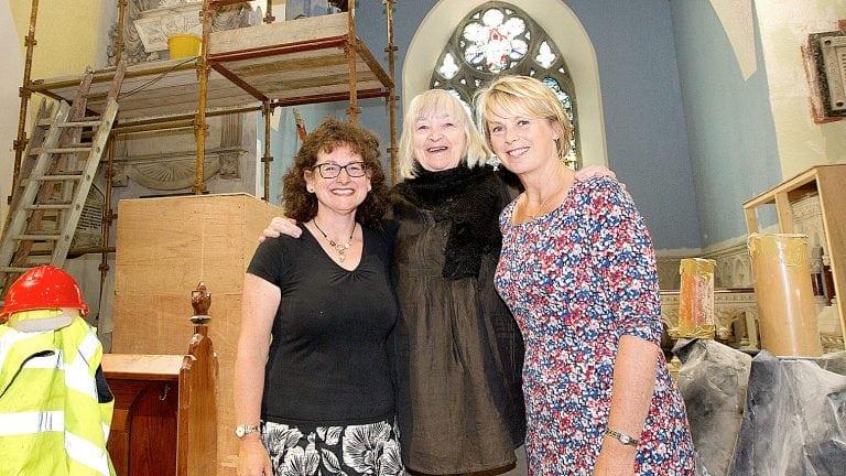 Artist visits her work at Kilbroney Parish Church