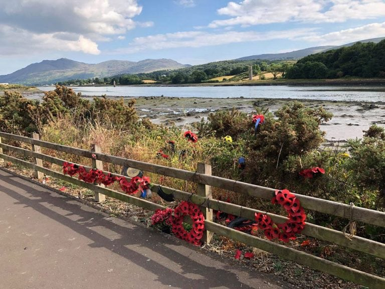 Damage caused to poppy wreaths
