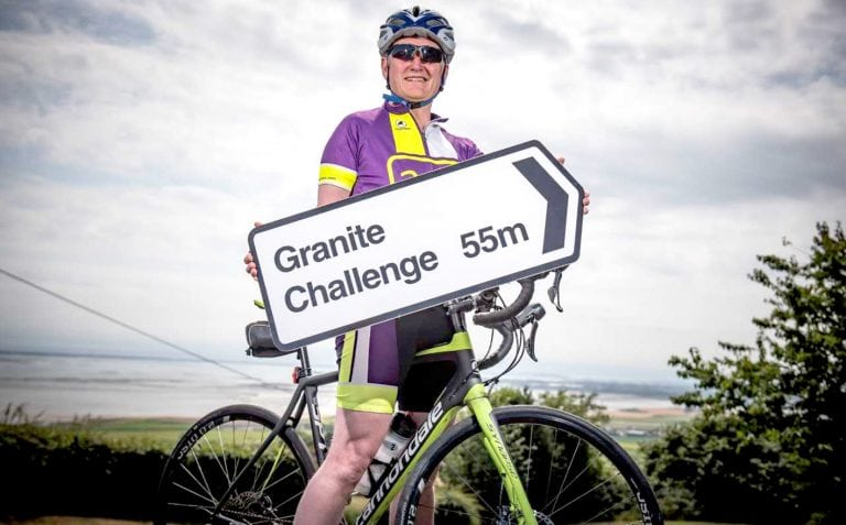 Charity chief calls for support for 55-mile Granite Challenge cycle