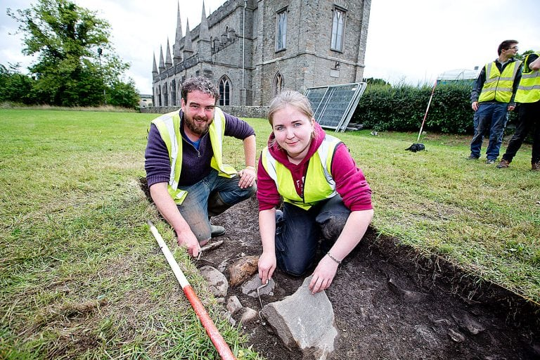 Medieval skeletons unearthed during Downpatrick dig