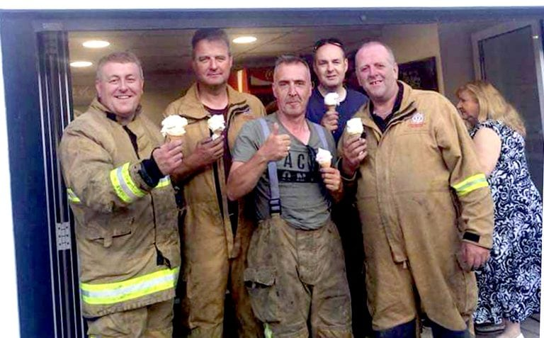 Amazing response to appeal for food for firefighters tackling blaze