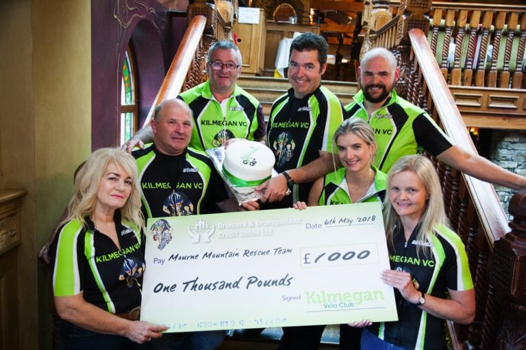 Club's cheque for Mourne Mountain Rescue Team