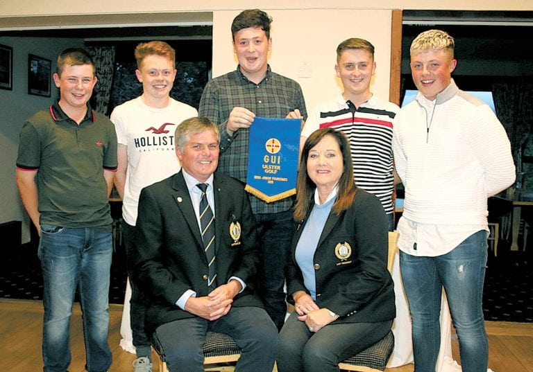 This summer's juvenile prizes are presented at Warrenpoint club