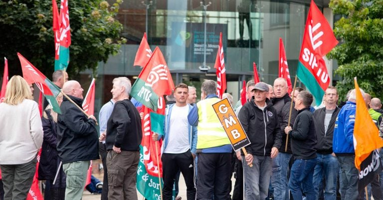 Council staff stage protest