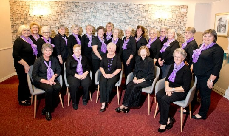 Committed choir members prepare to mark a very special milestone