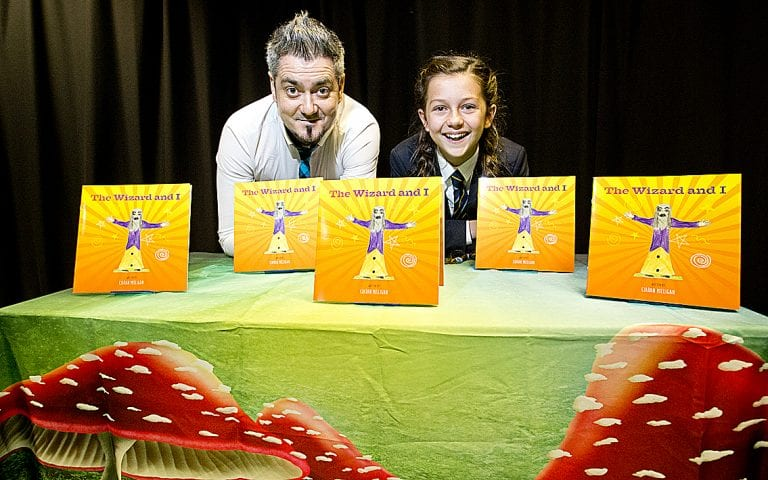 Magical book launch for father and daughter team
