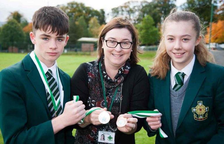 Castlewellan school's runners win medals at Kilbroney Park