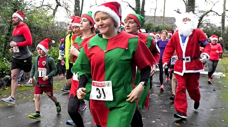 Crossgar gets in festive mood as Harriers host their annual Santa Run