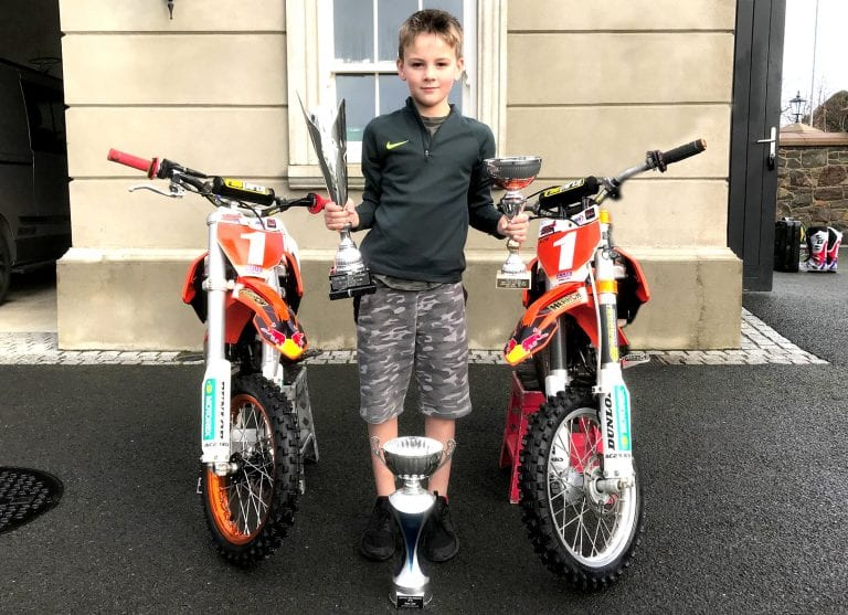 Eight-year-old Alfie Herron from Leitrim is continuing family's motorbike passion