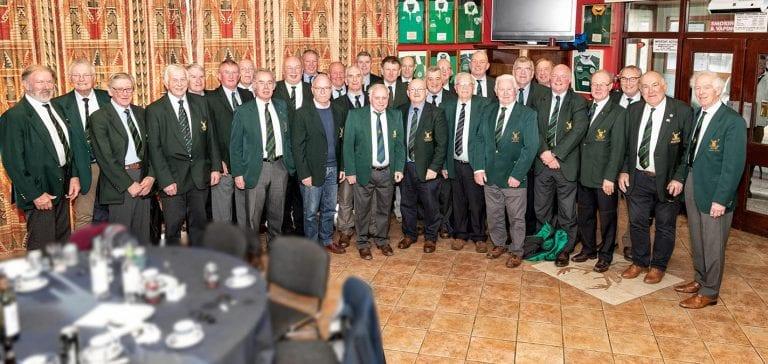 Thirty club presidents watch Hinch beat Ballymena to keep up 1B challenge