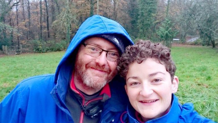 Diane and Tom preparing for their Arctic adventure