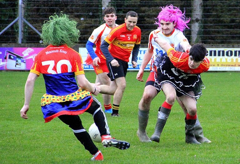 It was a fun day at the St John's club as players donned fancy dress for a charity match.