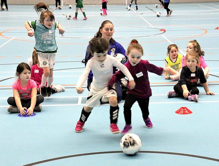 Shooting Stars girls' only development programme under way in Downpatrick