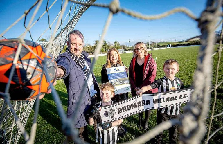 Dromara club receives funding to upgrade their facilities at Bell's Bridge base