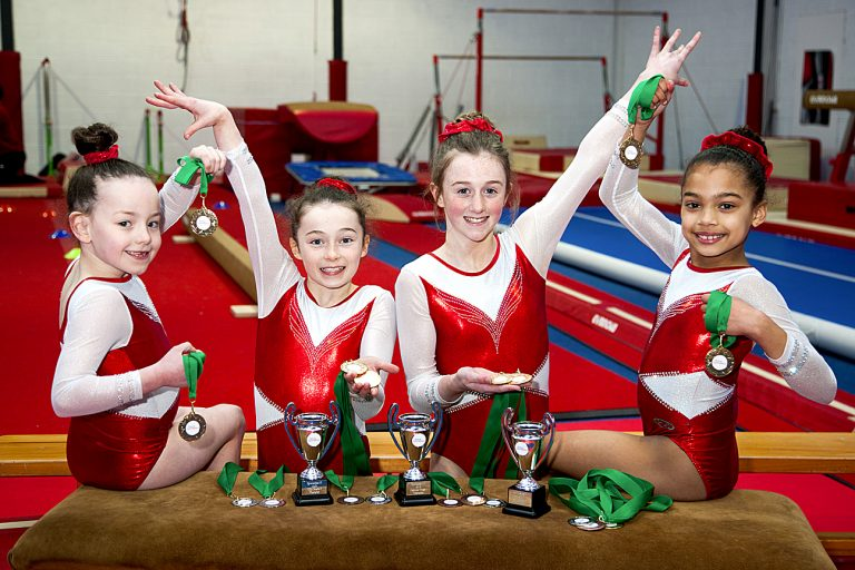 Gymnasts from the Sokol club in Castlewellan pass their grades at the National Development Pathway competition