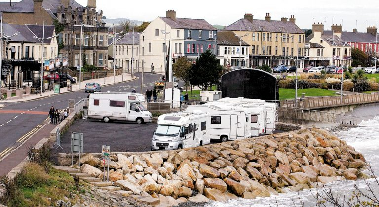 Motorhome parking spaces are created to accommodate visitors