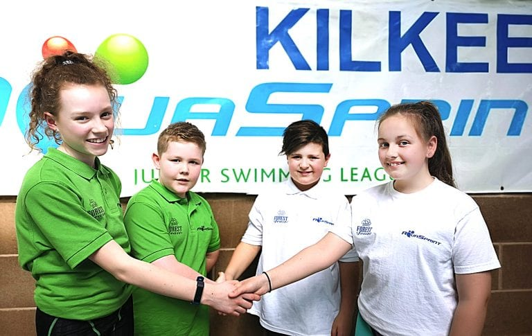 Kilkeel Swimming Club beat Enniskillen Lakelanders Swimming Club in final Forest Feast Aqua sprint gala