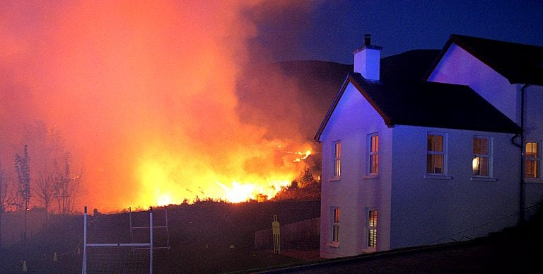 Firefighter's appeal after huge Easter weekend gorse fire