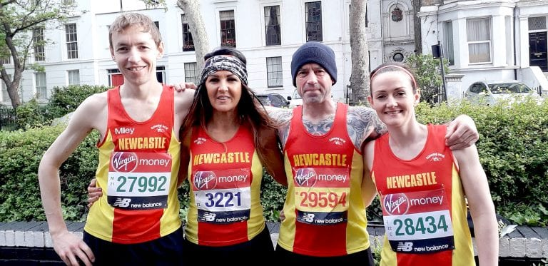 Local athletics clubs take part in London Marathon