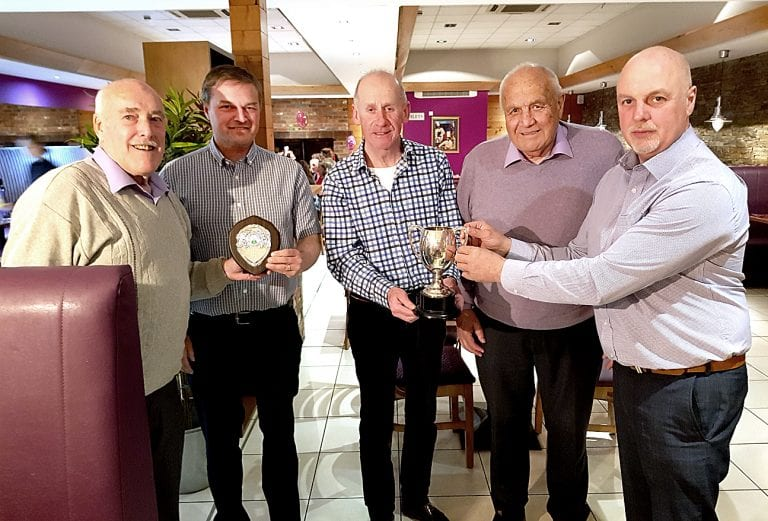 East Down Churches Table Tennis League present trophies to top players and teams