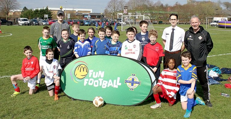 200 young footballers descend on Dunleath Park for a morning of games.