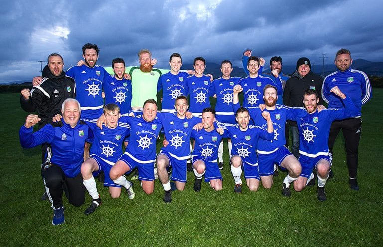 Annalong move up to Division Two of the Mid Ulster League as champions