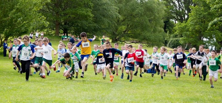 Young runners enjoy cross-country races