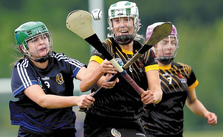 Down camogs in action for Ulster in the Junior Inter Provincial final against Munster