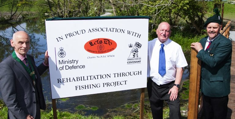 Fishing retreat for army veterans opens in Clough