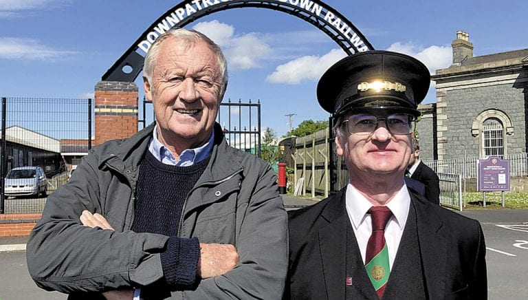 TV presenter pays visit to local heritage railway