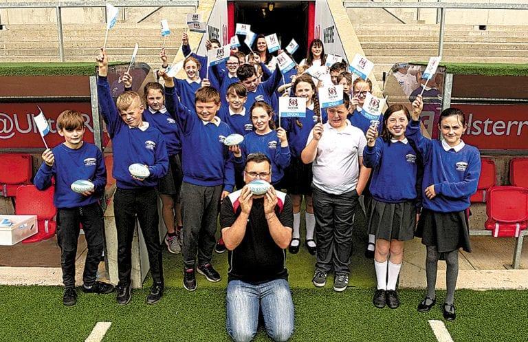 Newcastle pupils visit Kingspan Stadium