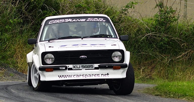 Local drivers compete in the Down Rally