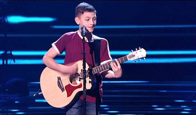 Teenager battles his way to semi-finals of The Voice Kids UK