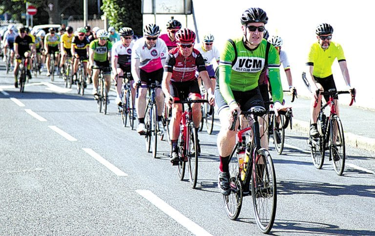 Shimna Wheelers stage memorial cycle