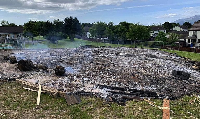 Condemnation after bonfires targeted ahead of 'Eleventh Night'