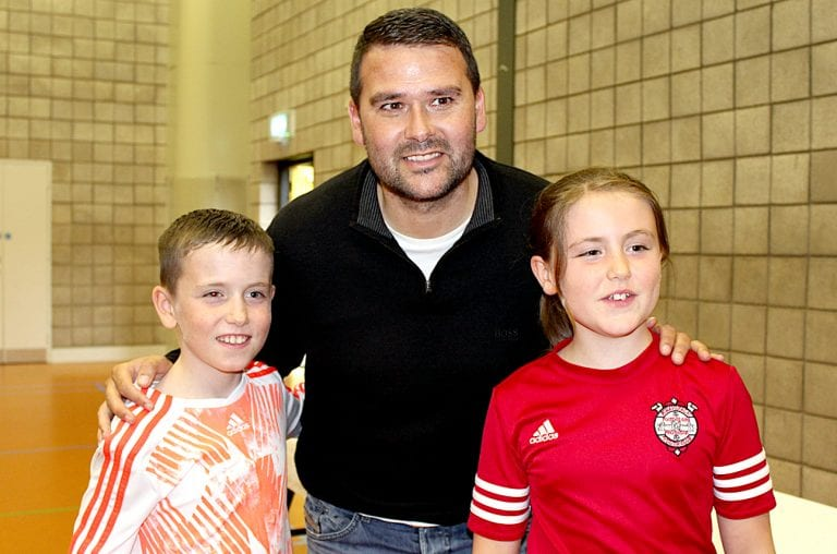 David Healy is guest at Killyleagh Summer League's awards night