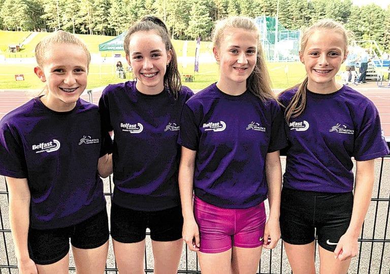 East Down runners become helpers at Belfast international athletics meeting