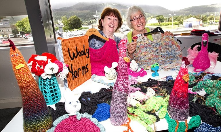 Local group set to 'yarn bomb' Newcastle Library