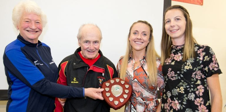 Warm welcome at local club for legendary athlete