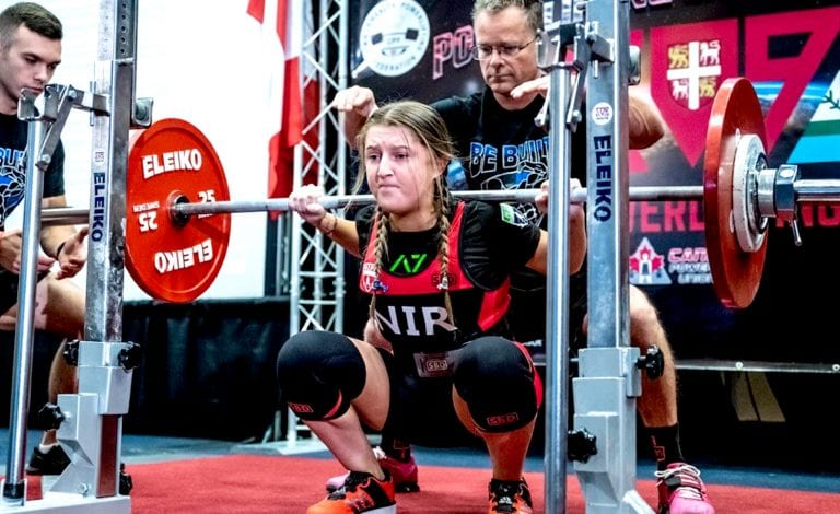 Claire celebrates success in international powerlifting competition