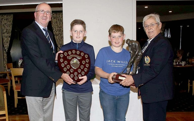 Warrenpoint Golf Club present awards to their Juvenile members