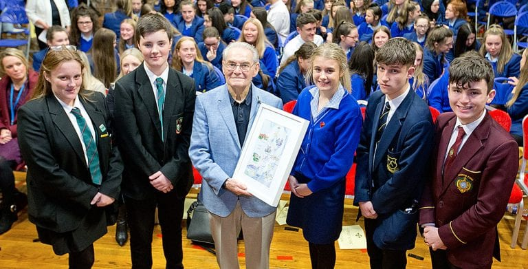 Holocaust survivor visits local students