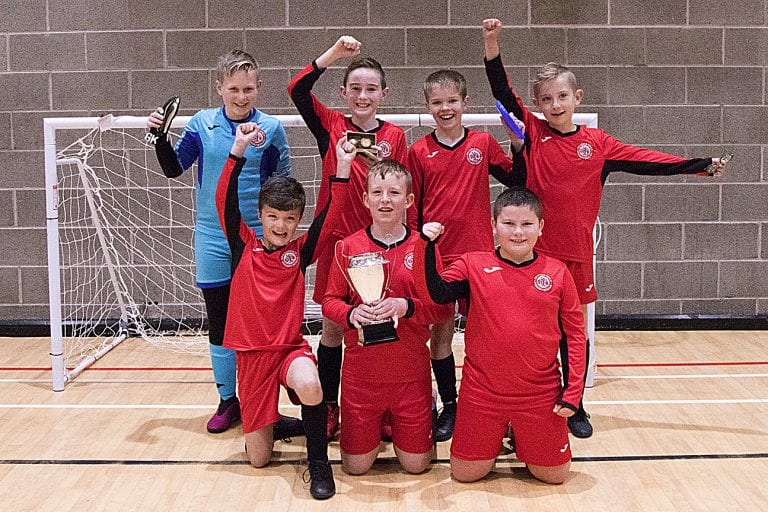 Primary school footballers compete for Ballynahinch Cup